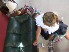 Hot Babysitter Gets A Bike