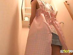 AzHotPorn.com - Maid Wearing No Pants