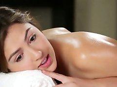 Hot lesbian babe massage