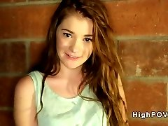 Redhead amateur teen sucking and banging pov