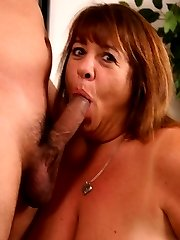 BBW Mercy hungrily sucking off a cock before she straddles on top and took it in her cunt