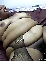 Massive black pussy worked by friend