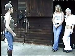 Stable girls punished by lady of the manor - big round asses blistered and bruised