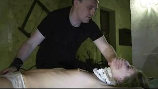 Pantyhose secretary spreading her pussy