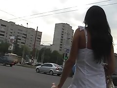 Up skirt public view of girl erotic panty