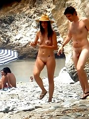 Nudist women at nude beach photos
