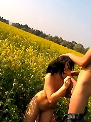 This brunette teen is sweet and innocent like the flowers in this field. However, has some...