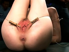 Jessi Palmer may be tiny, that doesn\'t mean she\'s not tough as nails. This adorable girl takes everything that Princess Donna, James Deen, and the crowd can dish out from zippers to zappers, suspension bondage and breath play. She is fucked by multiple men and covered in cum while she begs for mercy!