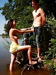 An innocent walk around the lake, soon turned x-rated when these teens realized that they were...