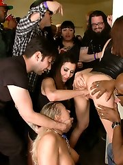 Angel Allwood makes for a slutty spectacle at a packed and rowdy house party. With the help of...