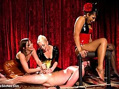Maitresse Madeline invites Mistress Lorelei Lee and DragonLily to her theater for a little...