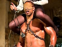 Robert Axel returns almost making to the ends of training and the Bitches need to humble this gorgeous muscle to remind him that despite being a beautiful piece of meat he still belongs on the floor with his face in the dirt. Mistress Lorelei Lee whips him and hangs all over his strong body while torturing his cock then fucking him in the ass. At this point all he wants is to get inside his beautiful mistress and he thinks he will until Lorelei locks his cock away in a CB6000 and rides and rubs all over his strong body letting him have little tastes of her perfect ass and pussy. Robert swells and throbs in his chastity belt and Mistress Lorelei Lee couldn't be happier!