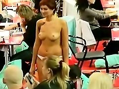 Devilishly sexy collage chicks secretly captured on the spy cam for you