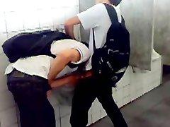 Busy rest room cruising caught spy cam