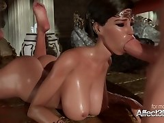 Horny big booty bombshell gets her black box pounded hard in these hot screaming vids