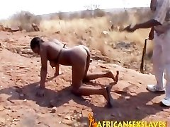 Sexy black babe with a huge mound of ass gets a cobbing adventure
