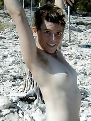 Punky tomboy is outside showing her hairy pussy and pits