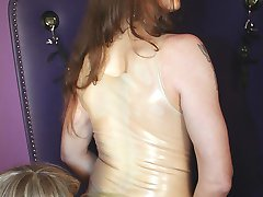 Sheer latex domme