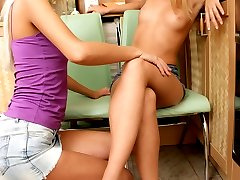 Two hot teens enjoying cunnilingus