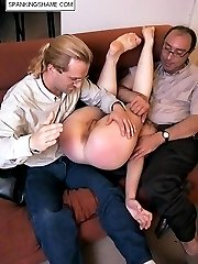 Shocking anal examinations and hard spanking punishment for young embarassed girl
