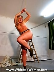 Whipping of cute blonde babe