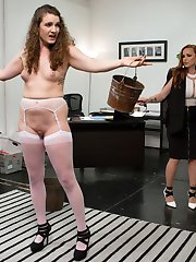Endza Adair will do anything to intern for hot executive Bella Rossi. Bella strips whips and...