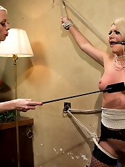 Lorelei Lee guest directs and dommes in this weeks roleplay update where she plays a rich woman...