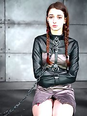 """We asked Willow Hayes: """"Are you ready for some Infernal Restraints?"""". She didn't hesitate a second before responding with an enthusiastic, """"Yes, please."""" So it is going to be one of those days, where the sweet young girl shows up on our doorstep, asking for an intense BDSM experience and we deliver all that she can handle. Sometimes life is too sweet to describe. We love our jobs."""