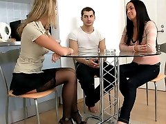 When the couple come to The Mistress Nastya home, they become her slaves