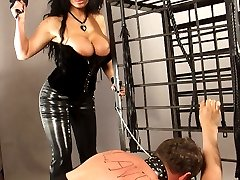 Hypnosis mistress punishes her sissy slave