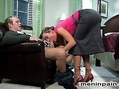 Gwen Diamond gets bored easily, and Billy is not holding her attention lately.  Determined to keep herself satisfied, Gwen decides it's time to introduce a little more beef to their relationship, and calls TJ to come give her a good hard fuck while billy is tied tied to a chair, [REDACTED] to watch.