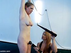 Episode 3: Lea Lexis has more in store for our sweet little Penny Pax. Today she is subjected to double penetration with electric plugs- the voltage courses through her making her ass jolt up and down.  Penny experiences electricity in her mouth for the first time!  She finds it challenging to follow mistress Lexis's orders to keep the toy in her mouth.  The punishment more than fits the crime as she is zapped on the tongue, flogged, and made to cum with the hitachi amidst all of the overwhelming electrical stimulation.
