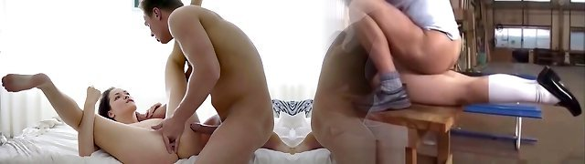 Blonde seducer with black panties plays with her dripping fanny