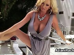 Sexy blonde woman goes crazy part5