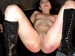 Pretty girl brutally spanked and caned to tears - heavy stripe marks