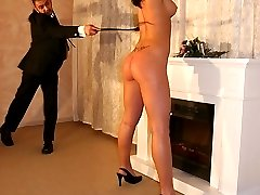 Erotic but harsh whipping
