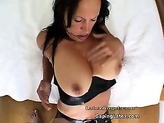 Nasty brunette whore goes crazy rubbing part6