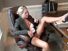 Relieving Her Office Frustrations !