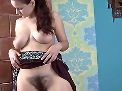 Teen with hairy pussy and big tits