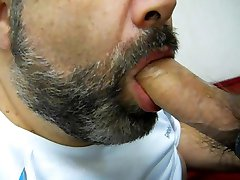 Daddy bear sucking cock
