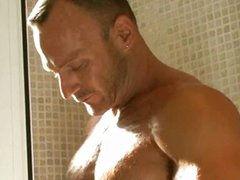 Two dudes tiny shower
