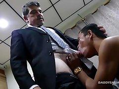 Daddy and Asian Boy Alex Flip Fuck