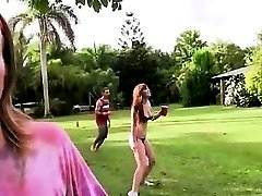 Young subtle couple fucking in outdoor