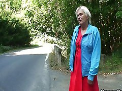 Granny fucked in the car fellow traveler