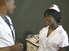 Ebony nurse fucked by doctor