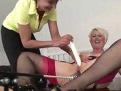 Mature enjoying sex machine