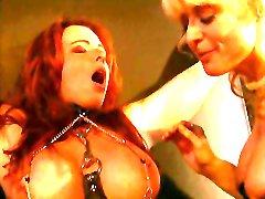 Nina Hartley and a big tits redhead into bondage and BDSM