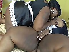 Fat ebony lesbians in maid costumes