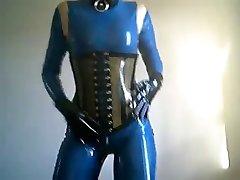 Blue Latex doll