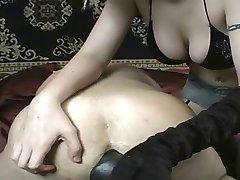 Hot girl dildoing guy